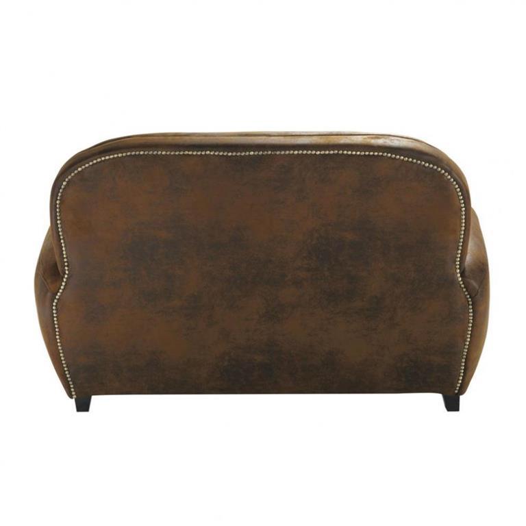 canap 2 places en su dine marron arizona maisons du monde. Black Bedroom Furniture Sets. Home Design Ideas
