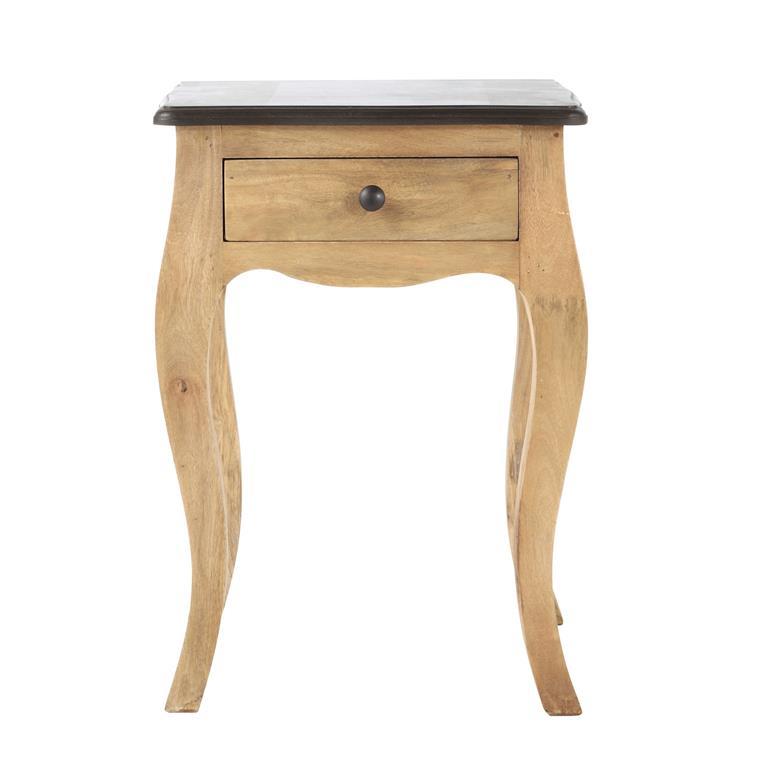 Table de chevet avec tiroir en manguier L 42 cm Montaigne