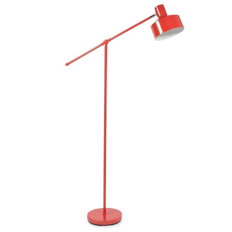 Lampadaire en métal rouge H 161 cm WARREN