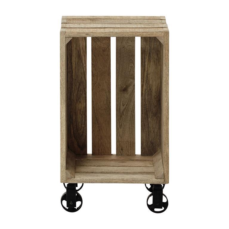 caisse roulettes en manguier 32x56 armel maisons du monde. Black Bedroom Furniture Sets. Home Design Ideas