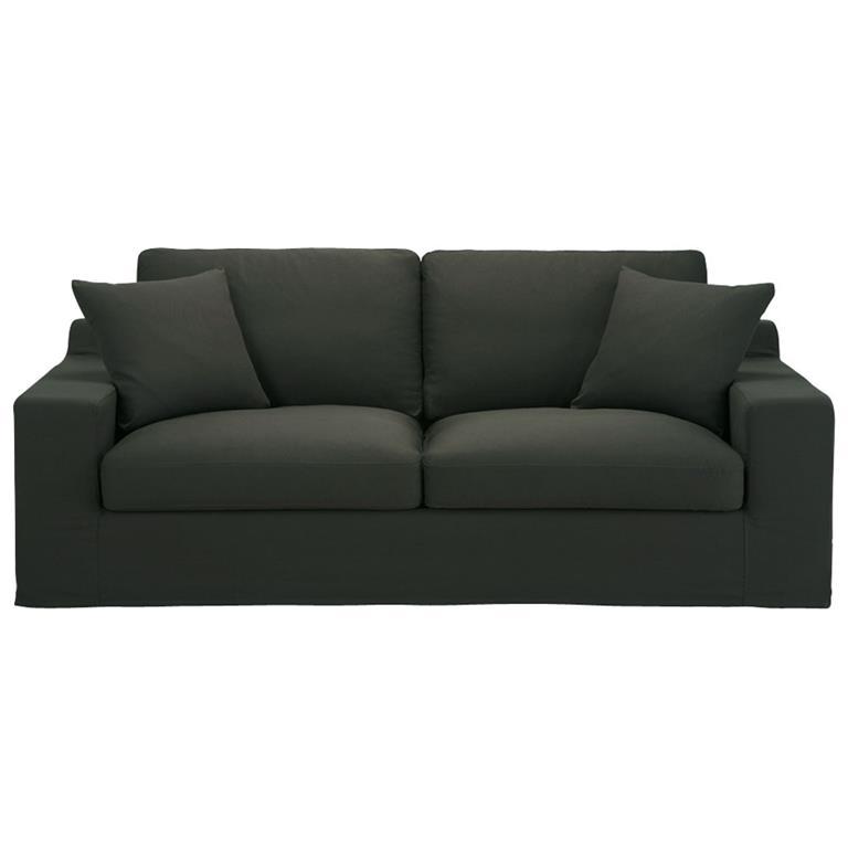 Canapé 3 places en coton anthracite Stuart