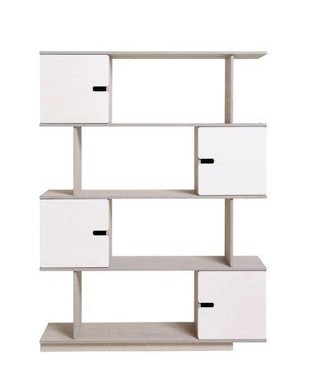 Etagère 4 niveaux blanche et grise Pix - Radis