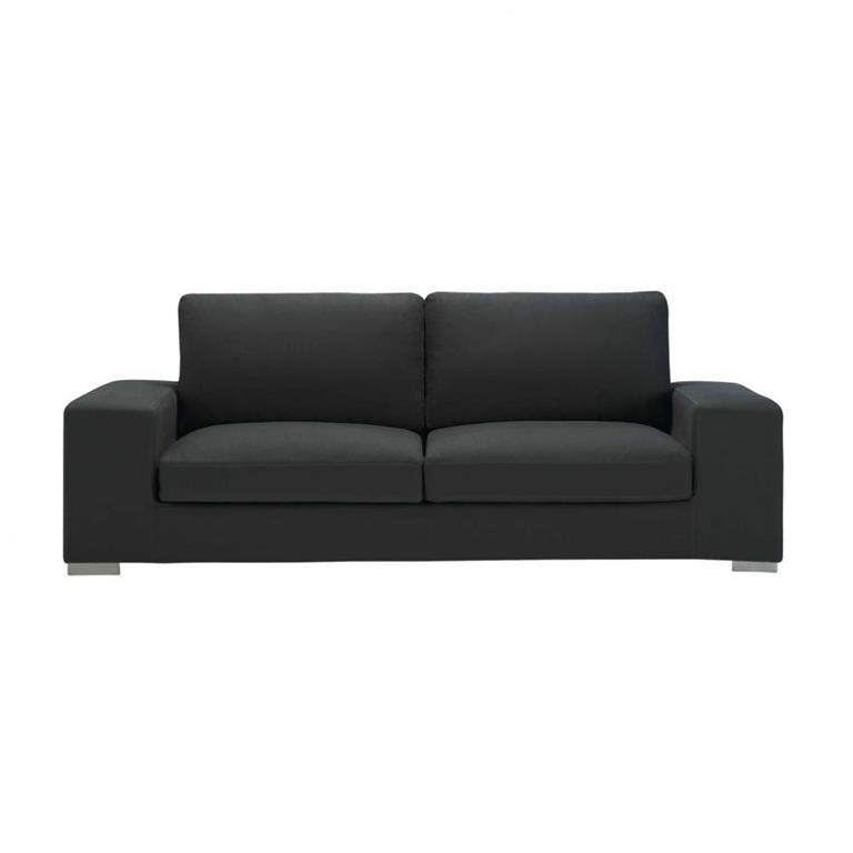 Canapé 3/4 places en coton gris New York