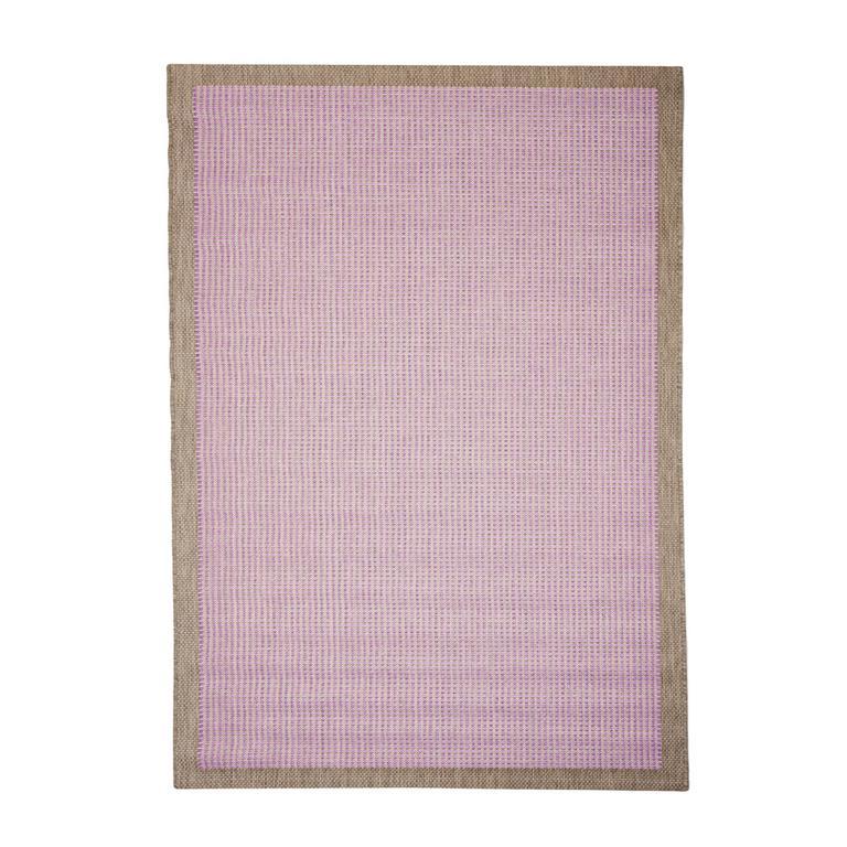 Tapis uni contemporaine en polypropylène violet 160x230