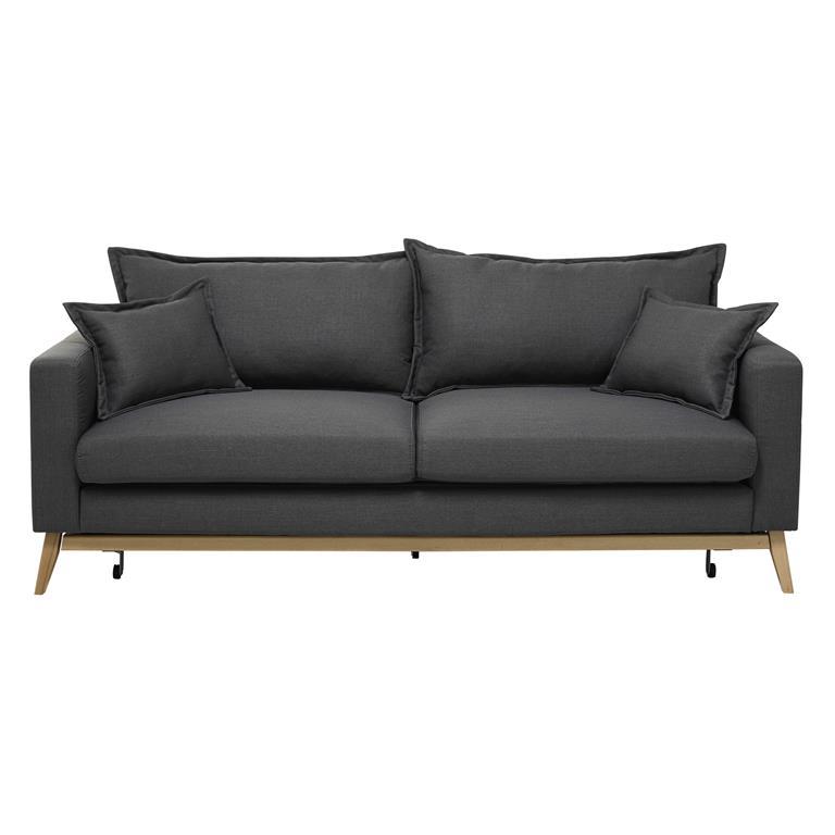 Canapé-lit 3 places gris ardoise Duke