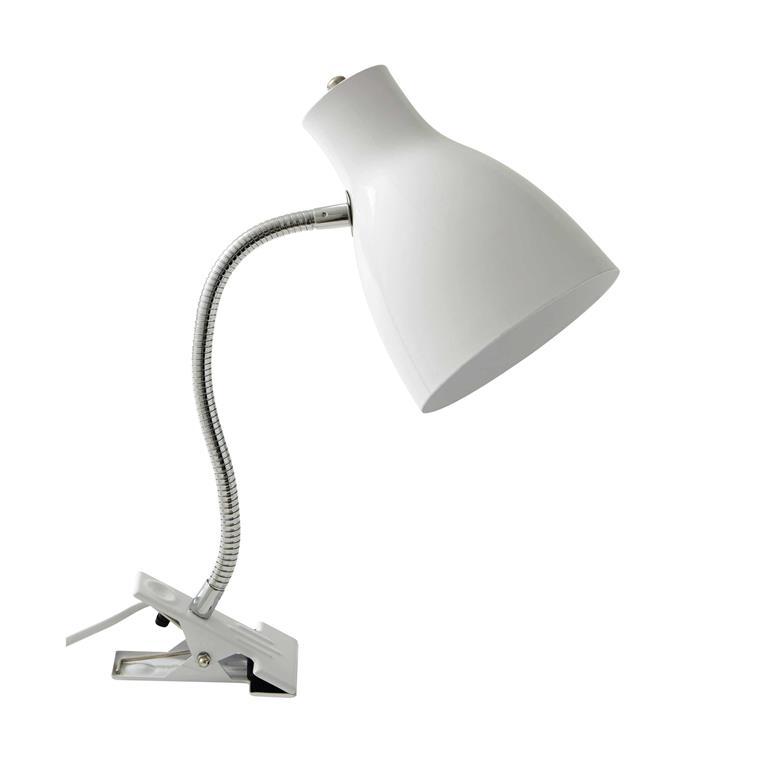 Lampe à pince en métal blanc H 35 cm CLIPA