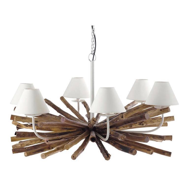 Cool lustre branches en mtal et manguier d cm rivage with lustre pampille maison du monde