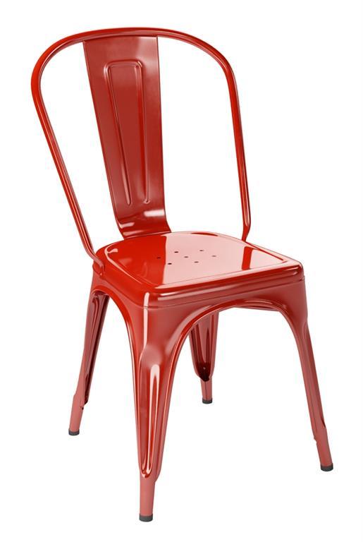 Chaise A rouge carmin