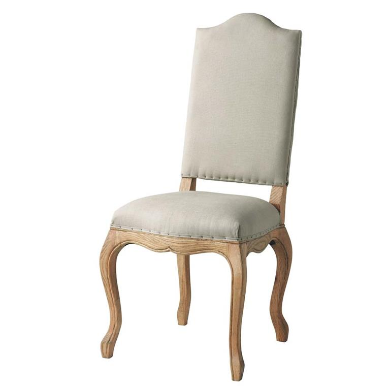 Chaise en lin et chêne massif Atelier