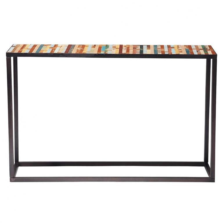 Table console en métal et bois multicolore L 120 cm Bahia