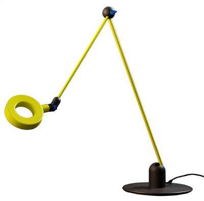 Lampe de table L´amica LED - Martinelli Luce vert -jaune en métal