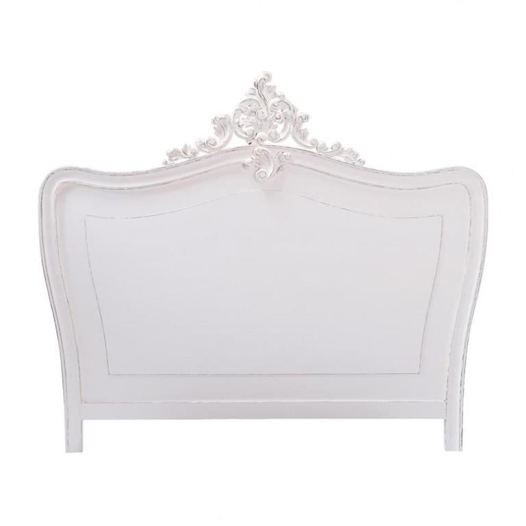 Tête de lit en bois blanche L 140 cm Comtesse