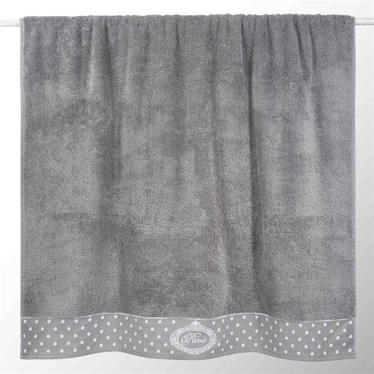 Drap de bain en coton grise 100x150