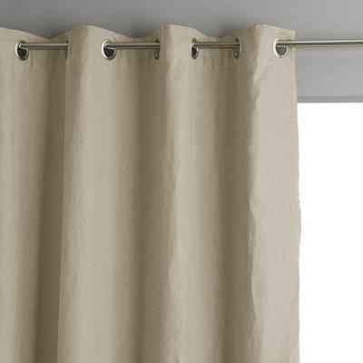 Rideau coton lin lavé Flandres LABELISSIM Camif Ref A100183991003
