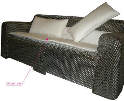 coussin d assise pour canap ivy emu blanc en tissu. Black Bedroom Furniture Sets. Home Design Ideas