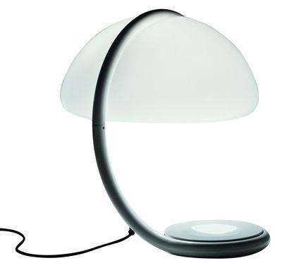 Lampe de table Serpente - Martinelli Luce blanc en métal