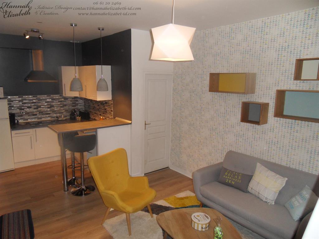 cuisine ouverte sur salon rétro hannah elizabeth interior design