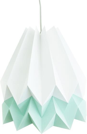 Abat-jour blanc et bleu en papier - Orikomi