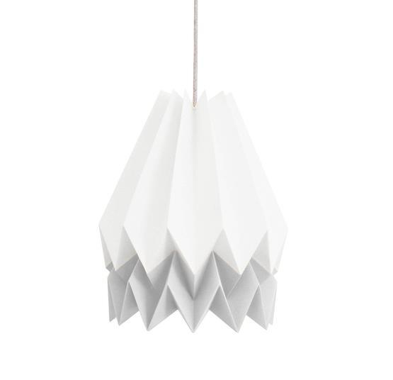 Abat-jour blanc et gris en papier - Orikomi