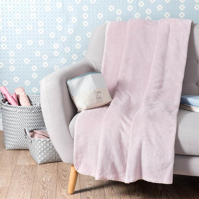 Plaid rose 150 x 230 cm CHANTILLY Maisons du monde