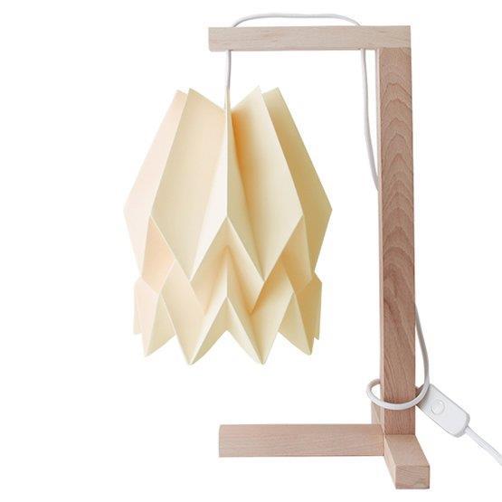 Lampe à poser jaune pastel - Orikomi