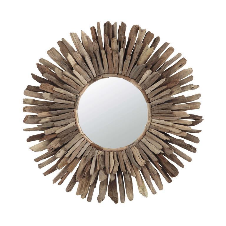 Miroirs maison du monde maison du monde chevet with for Miroir bois flotte blanc