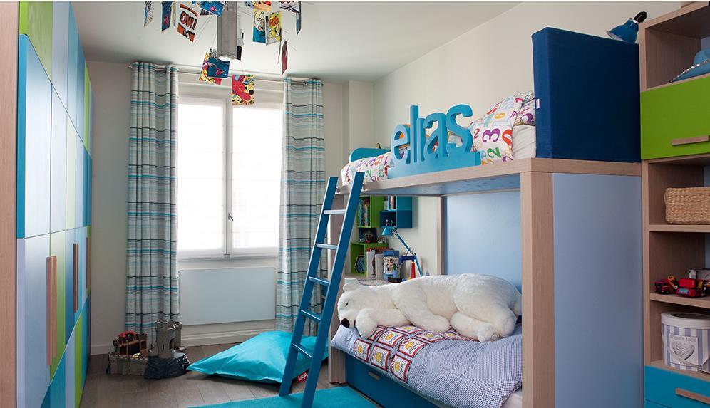 Des exemples de chambres tr s d co pour faire cohabiter for Chambre garcon 6 ans