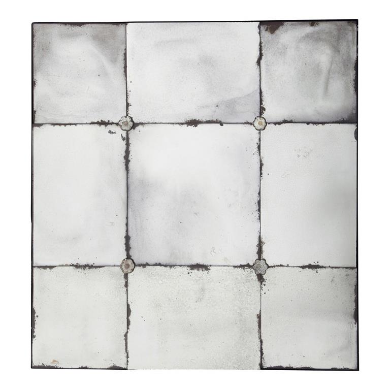 Miroir effet vieilli h 100 cm angelina maisons du monde for Miroir vieilli