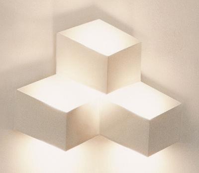 Applique Fold Surface LED / 3 éléments - Vibia blanc en métal
