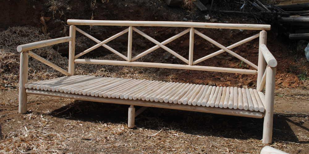 NOOn - Sofa écologique en bois de châtaignier