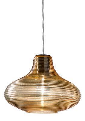 Suspension Emma / Verre soufflé artisanal - Panzeri ambre en verre