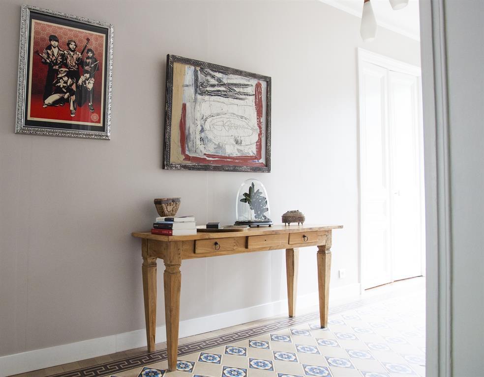 Image Couloir avec carrelage à motif