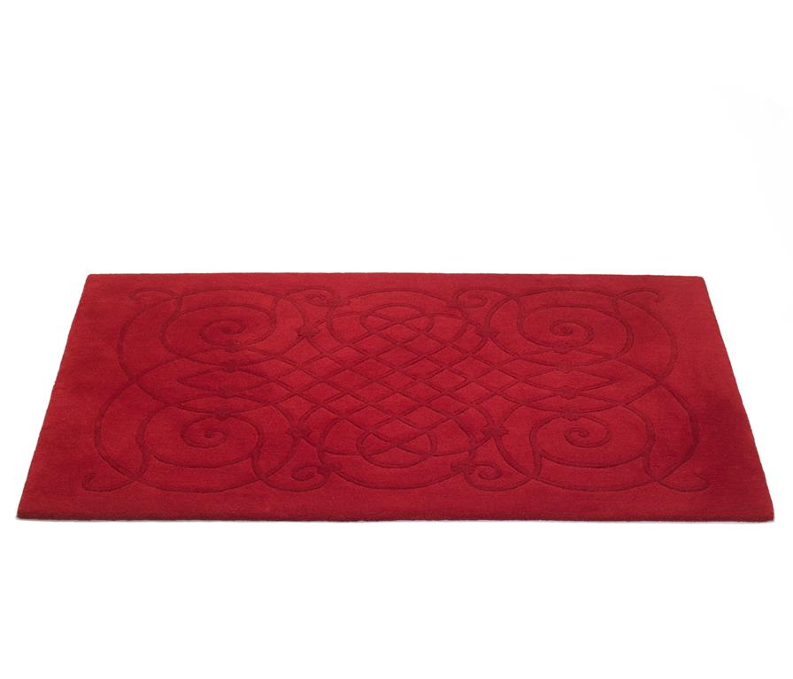 Tapis seville leone edition ref seville rouge domozoom for Produit pour nettoyer les tapis