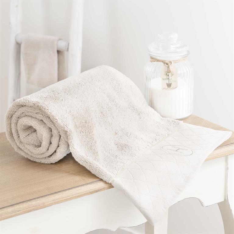 Drap de bain en coton beige 70x140 HOTES