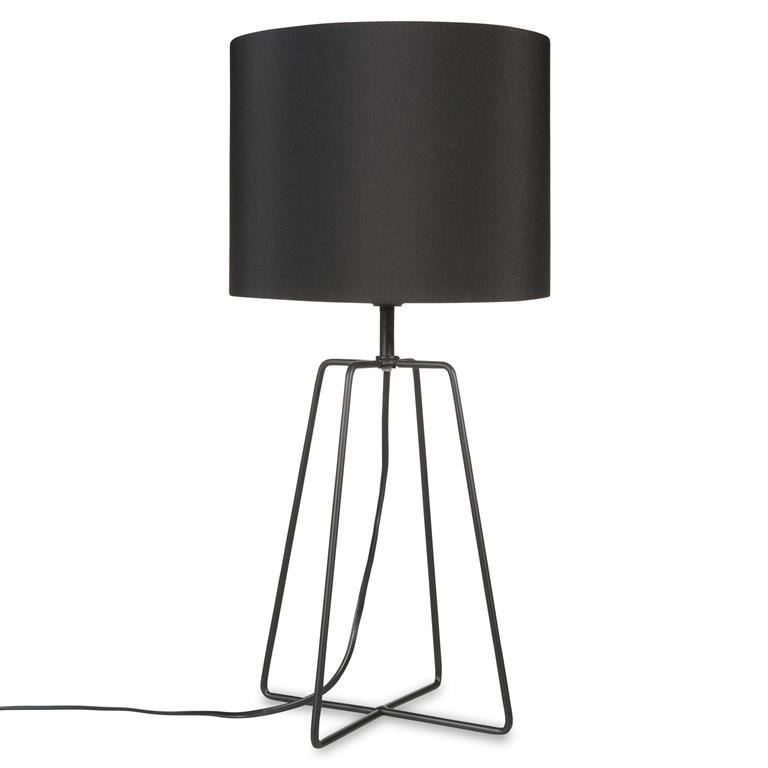 Lampe en métal noire H 49 cm CROSSY BLACK