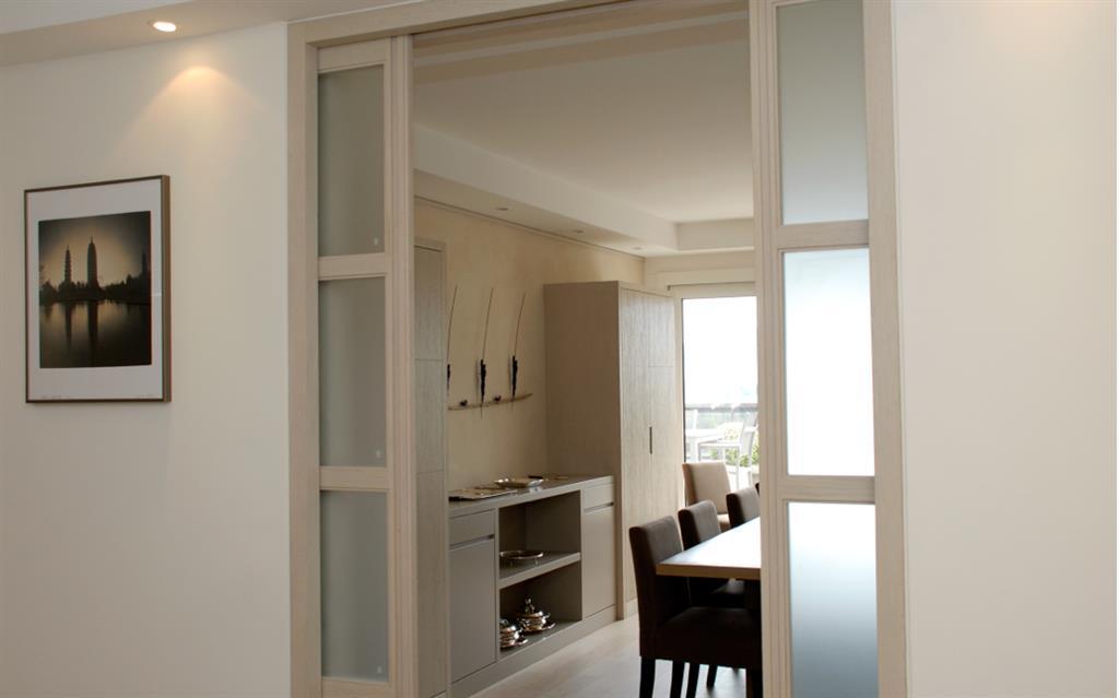 Double Porte Vitrée Coulissante Le Bois Chez Vous - Porte vitrée coulissante