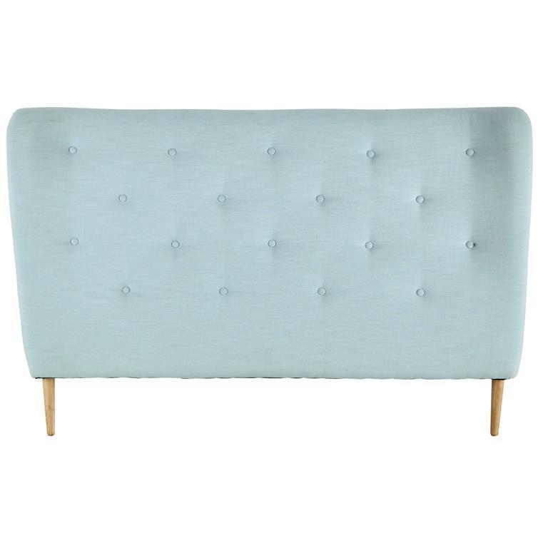t te de lit 160 capitonn e en tissu bleu turquoise iceberg. Black Bedroom Furniture Sets. Home Design Ideas