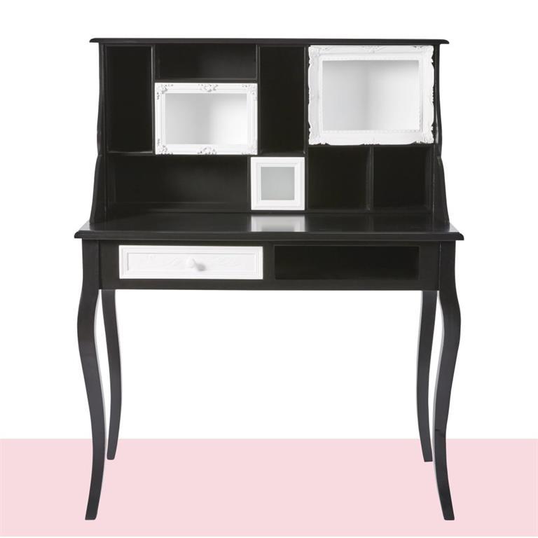 Secrétaire 1 tiroir noir et blanc Chantal Thomass