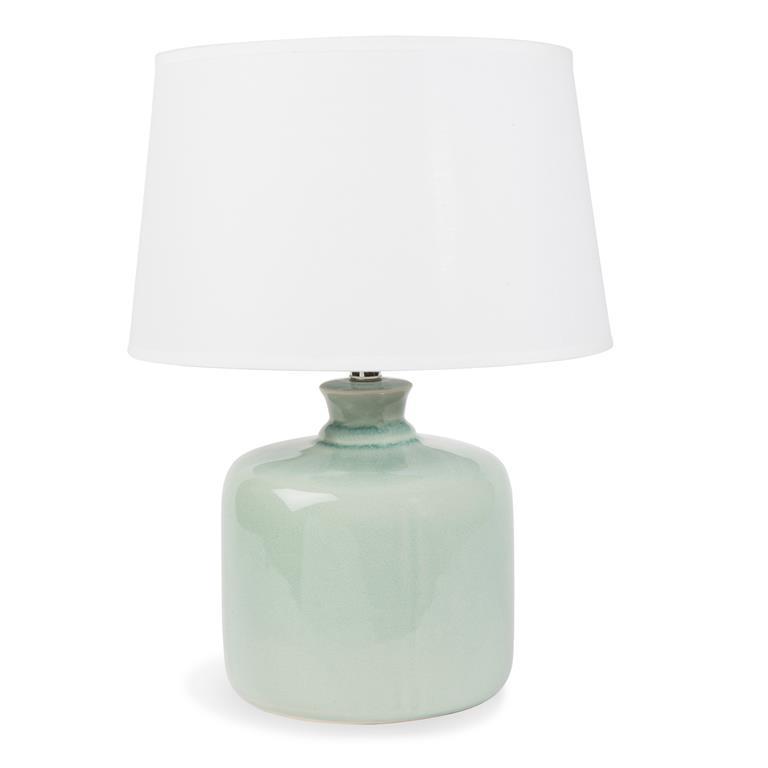 Lampe en céramique verte H 40 cm ORANGERIE