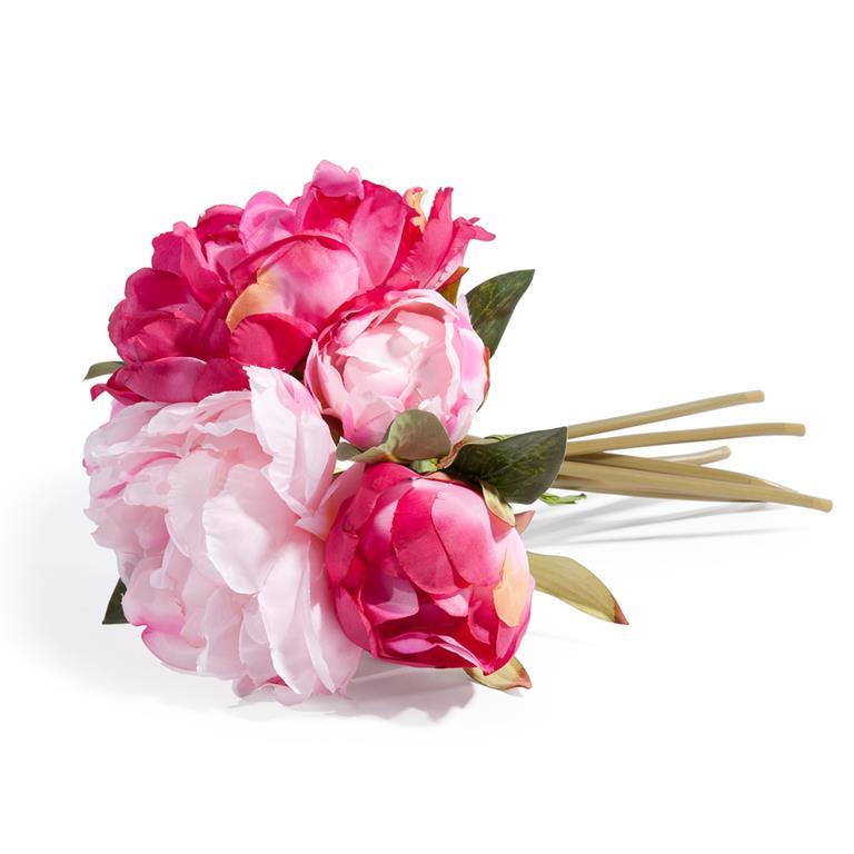 Bouquet de pivoines artificielles roses H 25 cm