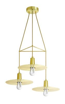 Suspension Chandelier Drop Hat / 3 branches - Ampoules incluses - Plumen