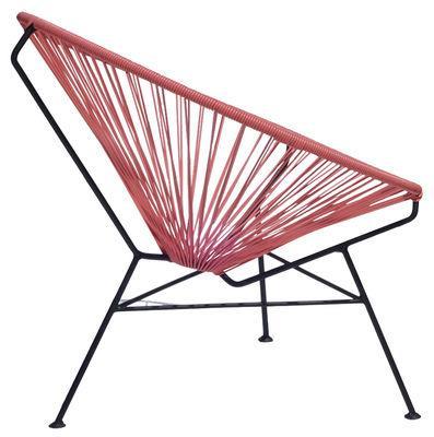 Fauteuil bas Condesa - OK Design pour Sentou Edition rose en métal