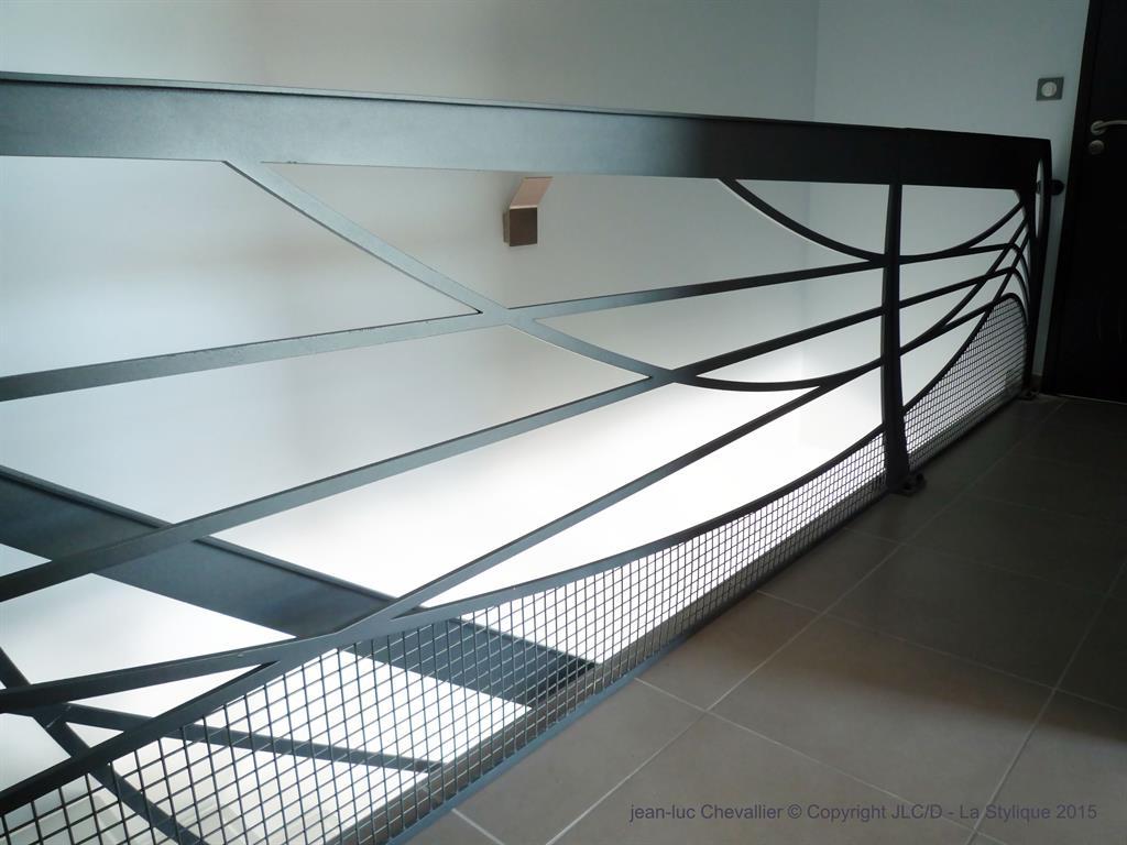 garde corps design en m tal art nouveau lastylique. Black Bedroom Furniture Sets. Home Design Ideas