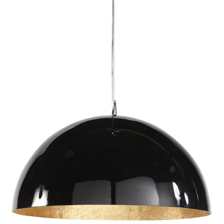 Suspension en plastique noire et or D 49 cm AMBRE