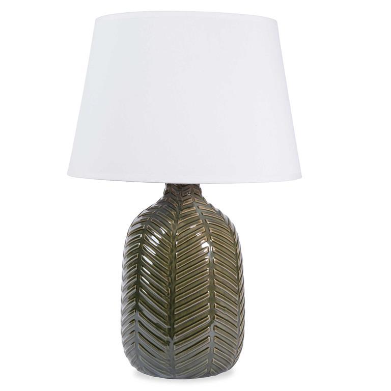 Lampe en céramique verte H 36 cm NAMIBIE