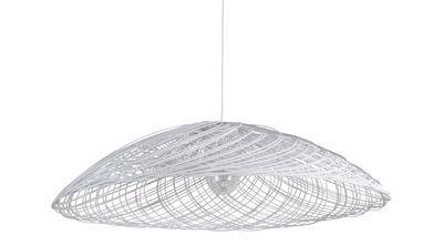 Suspension Satélise S / Rotin - Ø 45 cm - Forestier blanc