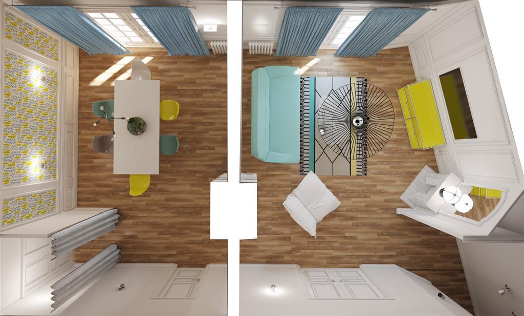vue 3d du salon salle manger agence kp photo n 13. Black Bedroom Furniture Sets. Home Design Ideas