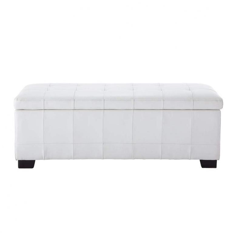 Bout de lit blanc L 120 cm Chesterfield