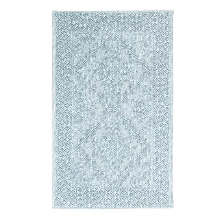 Tapis de bain en coton noué vert 50x80