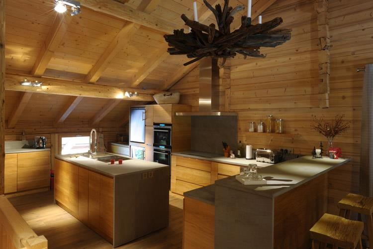 Célèbre Cuisine Style Chalet. Good Large American Style Kitchen Luxury  QO86